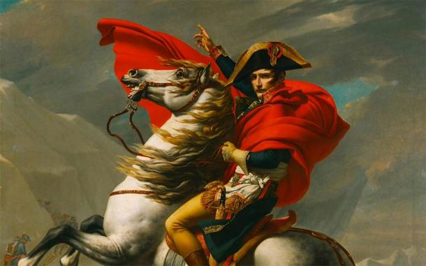 Napoleon Crossing the Alps by Jacques-Louis David, 1802 (Public Domain)