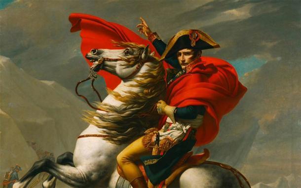 Napoleon Crossing the Alps by Jacques-Louis David, 1802 (Public Domain)