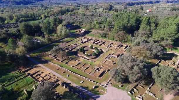 Aerial drone photo of the enthralling ruins of ancient Olympia, birthplace of the Olympic Games. (aerial-drone / Adobe Stock)