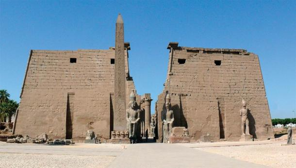 Pylons and Obelisk At Luxor Temple (Image: © David Hatcher Childress)