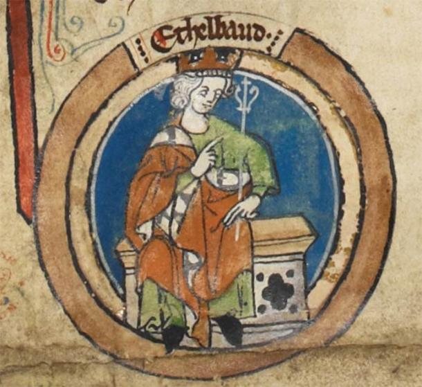 An old painting of Aethelheard, the King of Wessex who pursued Saint Frideswide. (Public domain)