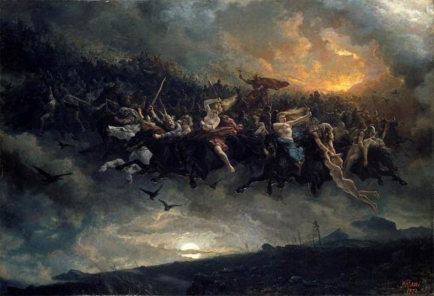 At the end of the Aesir-Vanir War, Mimir is exchanged as a hostage and taken by the Aesir. (Public domain)