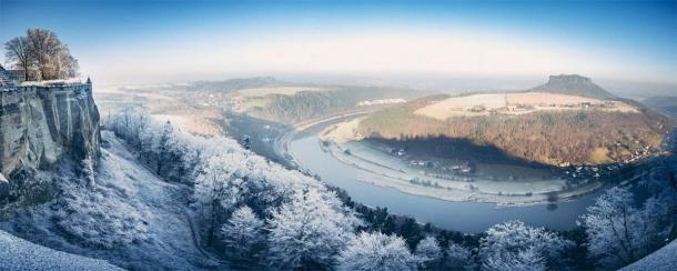 The Polabian Slavic tribes dwelt alongside the Elbe river, seen here in winter, located in modern eastern Germany. (MJ Fotografie / Adobe Stock)