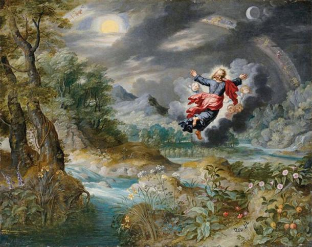 'God creating the Sun, the Moon, and the Stars' (17th century) by Jan Brueghel the Younger. (Public Domain)