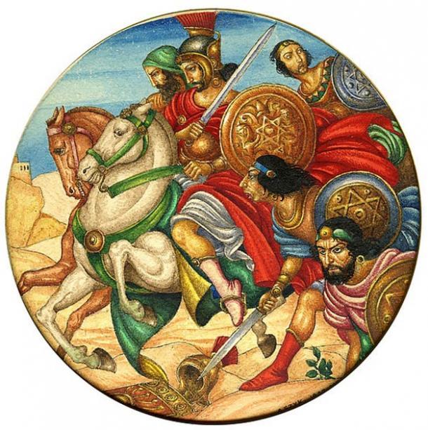 Shi' mon Bar Kokhba was a Judean revolutionary who rebelled against the Roman, creating terror in Rome. (Arthur Szyk / CC BY-SA 4.0)