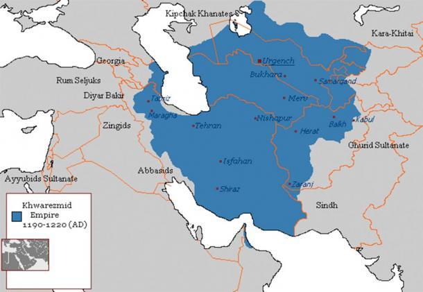 Khwarezmid Empire's Area (Arab League/ CC BY-SA 3.0)
