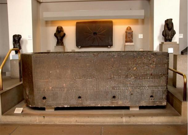 The sarcophagus of Nectanebo II in the British Museum. (Image: Andrew Chugg)