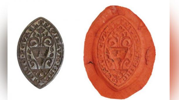 The medieval seal matrix has been declared a treasure. (Oxfordshire County Council)