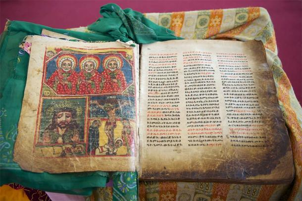 The Book of Aksum is a collection of 15th century documents from St. Mary's Cathedral of Aksum which gives crucial information about Ethiopian history. (Dmitry Chulov / Adobe Stock)