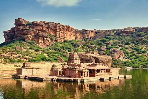 Badami, in the southern state of Karnataka, is a town revered for its breathtaking rock-cut cave and structural Chalukya temples. (Yevgen / Adobe Stock)