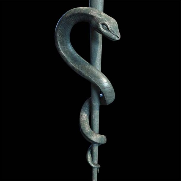 The rod of Asclepius, a symbol representing medicine and healthcare. (Roman / Adobe Stock)