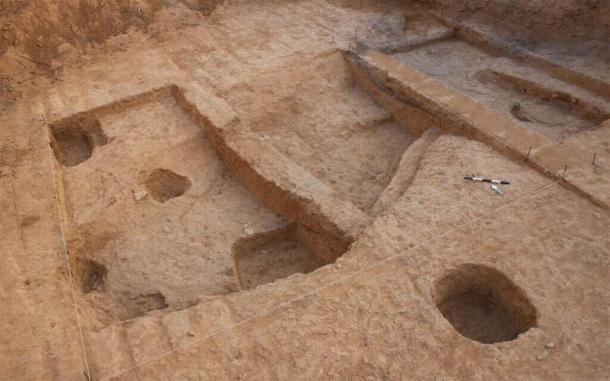 The advanced metal furnace excavation site near the modern-day city of Beersheba, Israel. (Talia Abulafia / Israel Antiquities Authority)
