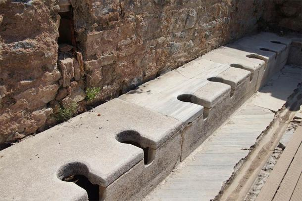 An ancient public toilet from early Roman times, which would have been an excellent source of medieval gut bacteria. Source: cascoly2 / Adobe Stock