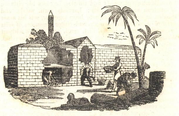 Drawing of an Egyptian egg oven from 1833. (The Penny Magazine / Public domain)