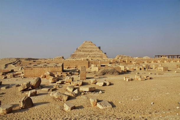 The now dry desert lands of Saqqara. Who would imagine that same land was once covered in water and home to ancient sea monsters. (Sergey/ Adobe Stock)