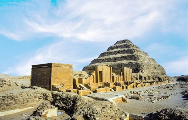 Pyramid of Djoser at the Saqqara necropolis, not far from where the latest cache of ancient Egyptian coffins were found in well shafts. (travelview / Adobe Stock)