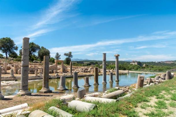 The ancient ruins of Patara where the almost perfect marble Greek snake altar was found recently. (Scottiebumich / Adobe Stock)
