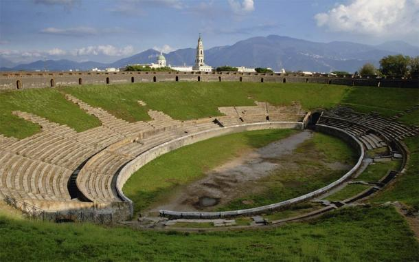 The amphitheater is the oldest and in true Pompeii style, is in a great state of preservation (pwmotion / Adobe Stock)