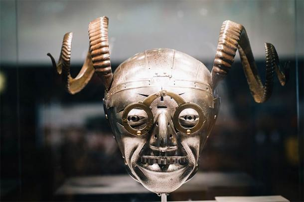 The horned helmet is said to have belonged to Henry VIII (Paul Hudson: CC BY 2.0)