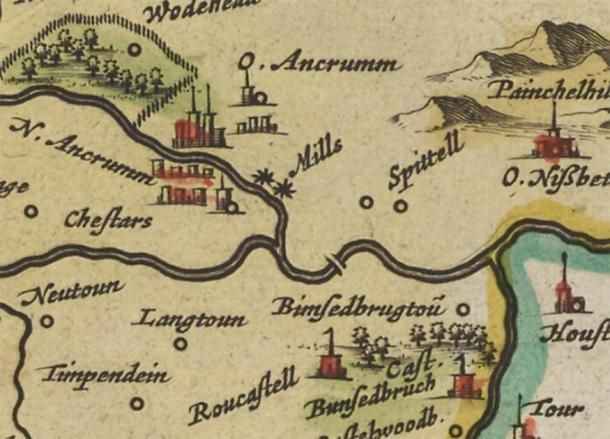 Judith Coulson, a member of the Ancrum and District Heritage Society, found an extract from the local council minutes which sparked the hunt to discover the medieval bridge. The team then came across Blaeus Map of Teviotdale in 1654 which showed bridge 130 years before other known bridges had been constructed. (ADHS)