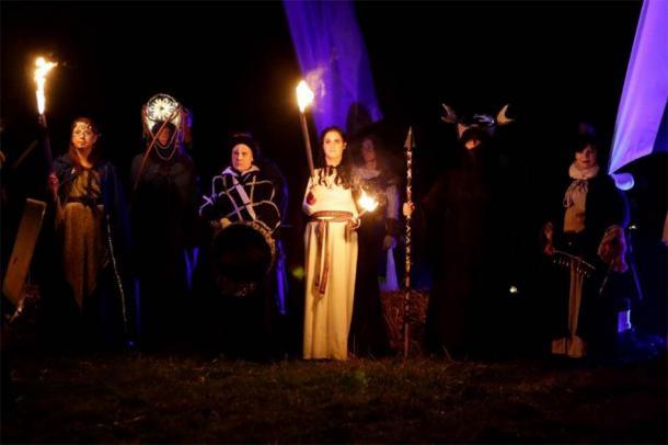 Celebrating Samhain, Hill of Ward, Ireland. (Púca Festival)