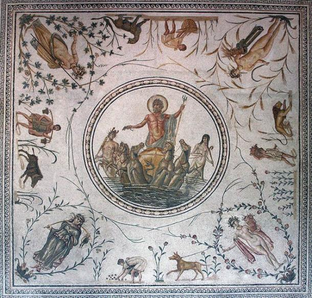 "A late 2nd century AD Roman mosaic entitled the ""Triumph of Neptune,"" from La Chebba, Tunisia. (Bardo National Museum / CC BY 2.0)"