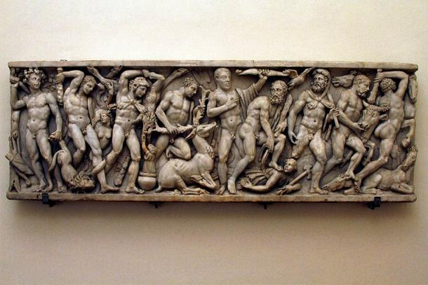 There are several examples in existence of the Hercules Sarcophagus that are not fake. This one from the Palazzo Altemps, Rome, shown from the side, depicts some of The 12 Labors of Hercules. (© José Luiz Bernardes Ribeiro)