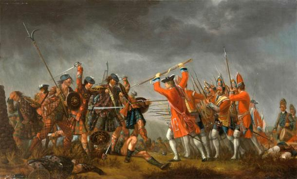 The Battle of Culloden was Charles Edward Stuart's final stand in the Jacobite Uprising. It took place on the 16th April 1746, culminating in the death of hundreds of Jacobites. (Public domain)