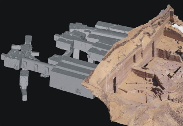 3D model of the tombs at Qubbet-el Hawa created by a process of scanning and digitalization which the team has been conducting since 2014. (Proyecto Qubbet-el Hawa)