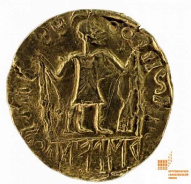 Wayland the Smith gold solidus coin found in Germany in 1948 and dating to 575-600 AD. (HansFaber / CC BY-SA 4.0)