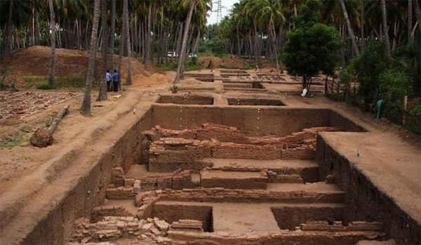 Excavations at the Keeladi archaeological site. (Ophelia S/CC BY SA 4.0)