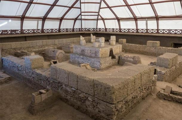 Ruins of an ancient Roman tomb at Viminacium. (smoke666 /Adobe Stock)