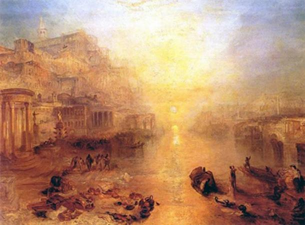 Ancient Italy - Ovid Banished from Rome by Joseph Mallord William Turner (1838) (Public Domain)