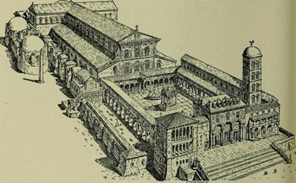 Basilica of St Peter in History of Rome and the Popes in the Middle Ages (1911)(Public Domain)