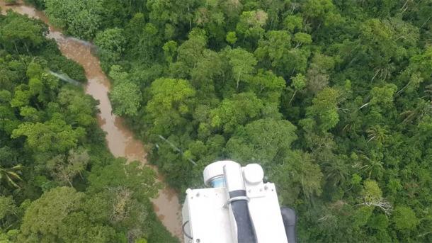 Lidar scanning the Brazilian rainforest. (University of Exeter)