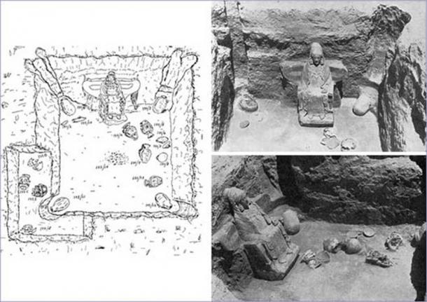Images showing the funerary artifacts, including the Lady of Baza, which were discovered at the necropolis of the Cerro del Sanctuario in Baza, Granada, back in 1971. (Eva María González Miguel / Universidad de Granada)