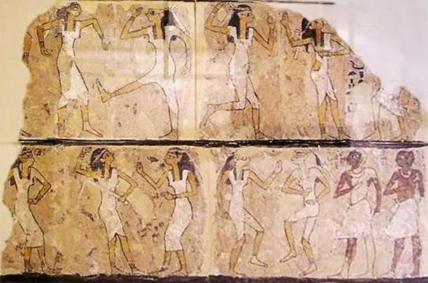 Tomb of the Dancers, wall painting. 17th Dynasty, Thebes. (Jon Bodsworth/Public Domain)