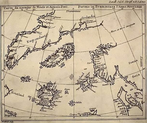A reproduction of the Zeno map from a 1793 book (Public Domain)