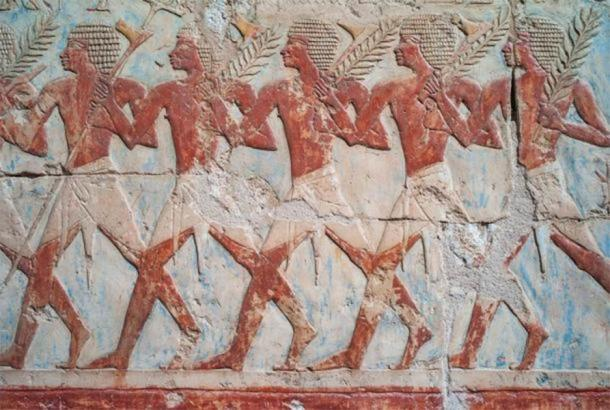 Famous relief of Hatshepsut's trading expedition to the Land of Punt. (Dietmar /Adobe Stock)