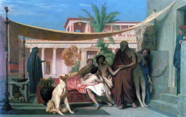 Socrates looking for Alcibiades and finding him at the House of Aspasia. (Jean-Léon Gérôme / Public domain)