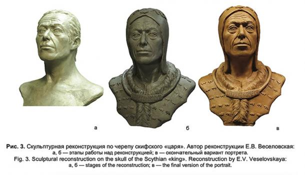 Features of the Scythian king reconstructed from his skull.