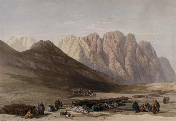 Encampment of the Aulad-Sa'id at Mount Sinai. Is this Sinai? (Wellcome Images/ CC BY-SA 4.0)