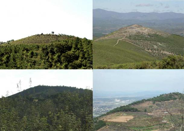 Four well-known hillforts today, clockwise from top left: Escarigo; Argemela; Saint Martinho and Saint Roque (Images: Courtesy Tom Hamilton)