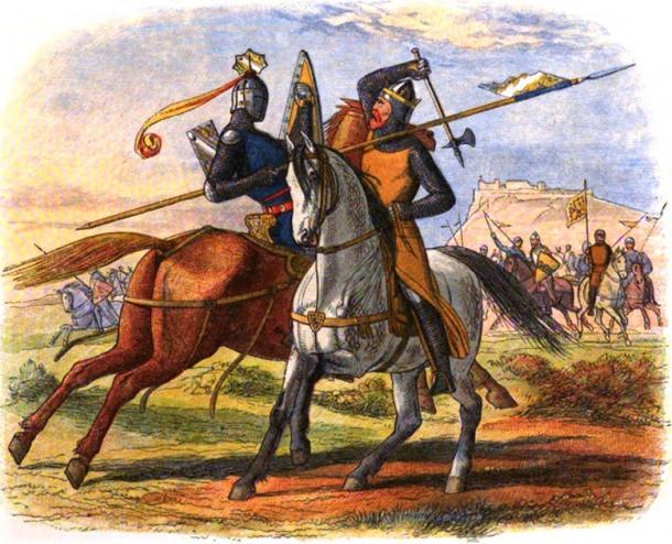 Robert the Bruce kills Sir Henry de Bohun on the first day of the Battle of Bannockburn. Source: Public Domain