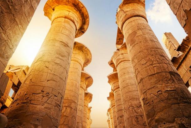 Ancient columns at the Luxor Temple in Egypt. (zevana / Adobe stock)