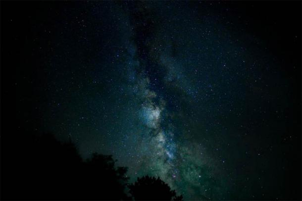 The Above World is also the location of the Milky Way galaxy. (CC0)