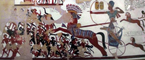 Pharaoh Ramses II charging the Nubians. (CC BY-SA 3.0)