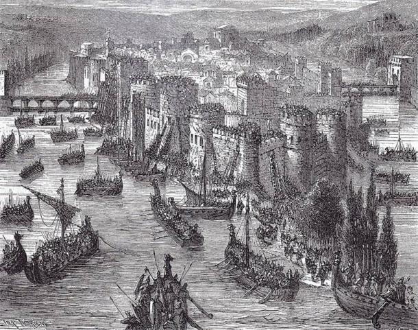 Viking Ships besieging Paris. (Public domain)