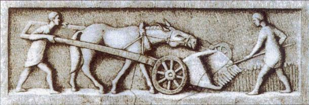 Agriculture remained central to the Roman economy throughout its history. (Public domain)