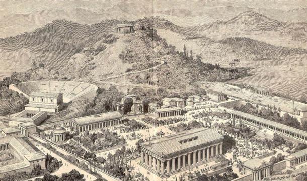 An artist's impression of ancient Olympia. (Public domain)